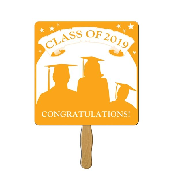 Promotional Square Graduate Hand Fan - Paper Products