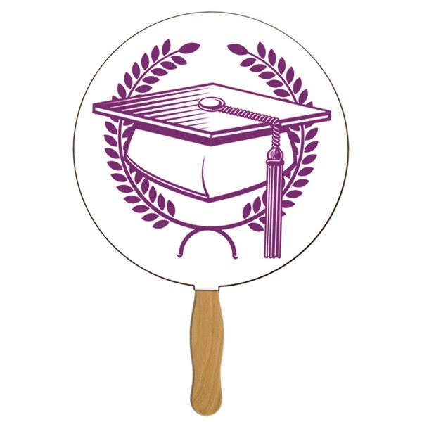 Promotional Round Graduate Hand Fan - Paper Products