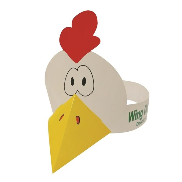 Promotional Chicken Visor - Paper Products