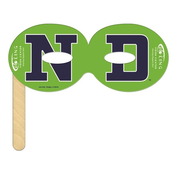 Promotional Round Mask on a Stick - Paper Products