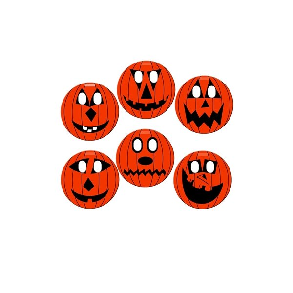 Promotional Standard Print Pumpkin window sign - Paper Products