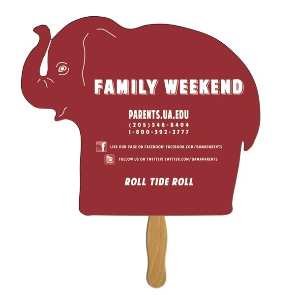 Promotional Elephant Special Shape Fan - Paper Products