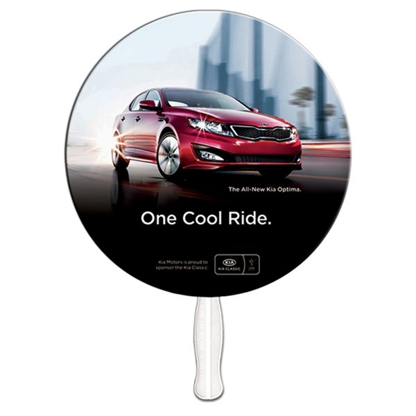 Promotional 9 Inch Circle Special Shape Fan - Paper Products