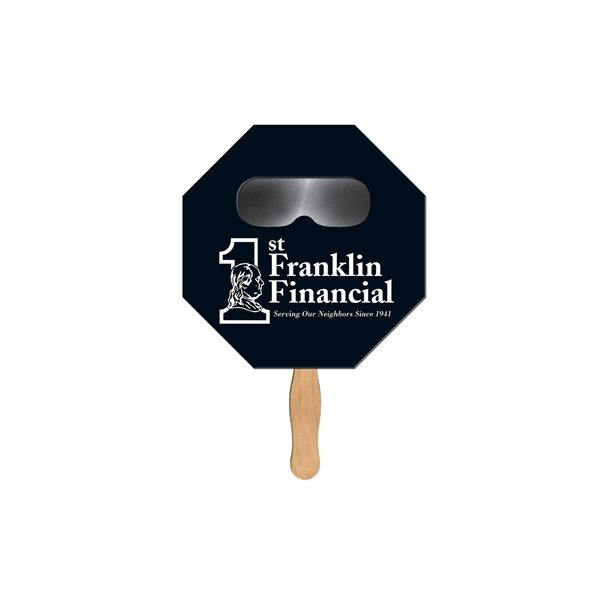 Promotional Stop Sign Sun Shade Fan - Paper Products