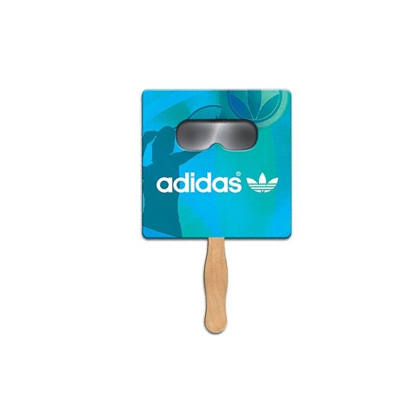 Promotional Square Sun Shade Fan - Paper Products