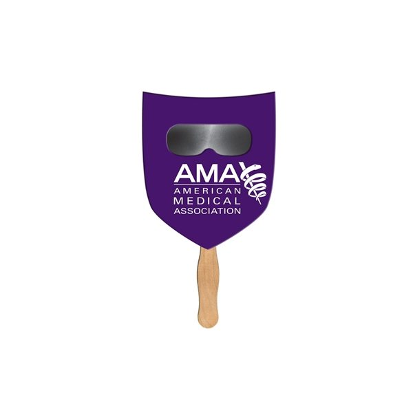 Promotional Shield Sun Shade Fan - Paper Products