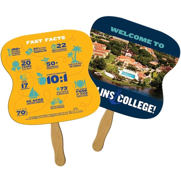 Promotional Hourglass Sandwiched Fan - Paper Products