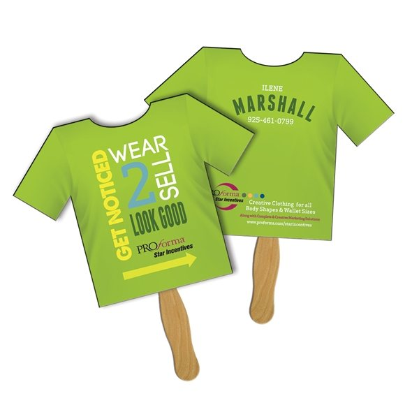 Promotional T - Shirt Sandwiched Fan - Paper Products