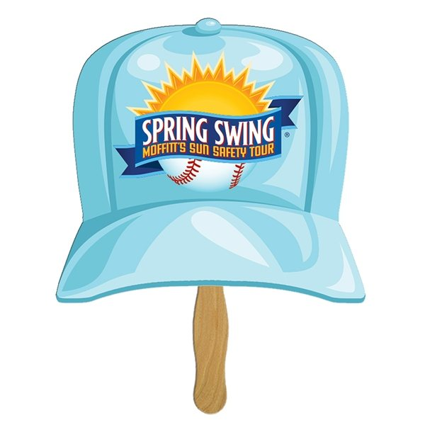Promotional Baseball Hat Sandwiched Fan - Paper Products