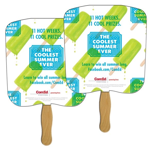 Promotional Bread Slice Sandwiched Fan - Paper Products
