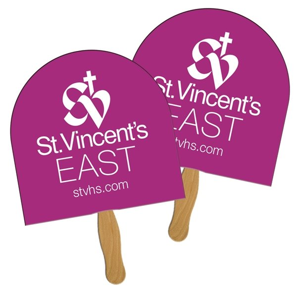 Promotional Archway Sandwiched Fan - Paper Products