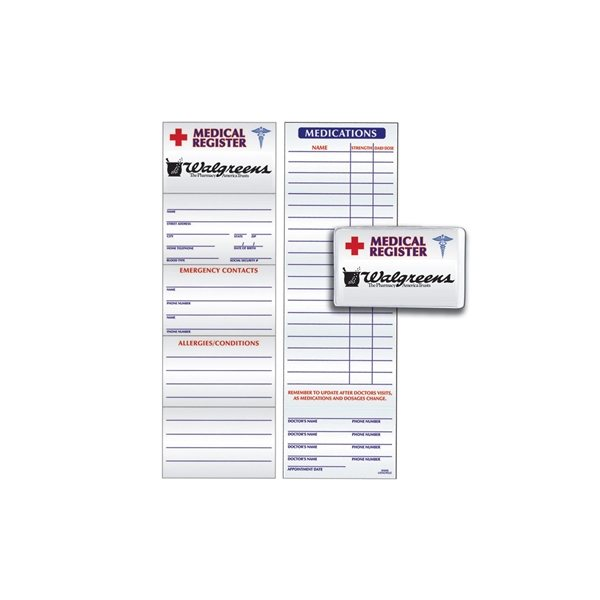 Promotional Medical Register - Paper Products