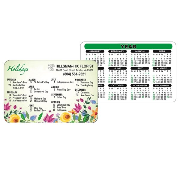 Promotional Wallet Calendar - Paper Products