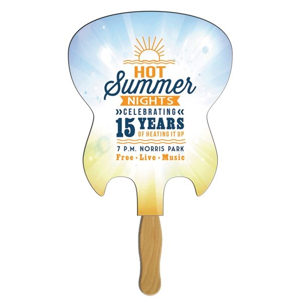 Promotional Electric Guitar Stock Shape Fan - Paper Products