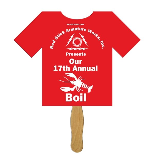 Promotional T - Shirt Stock Shape Fan - Paper Products