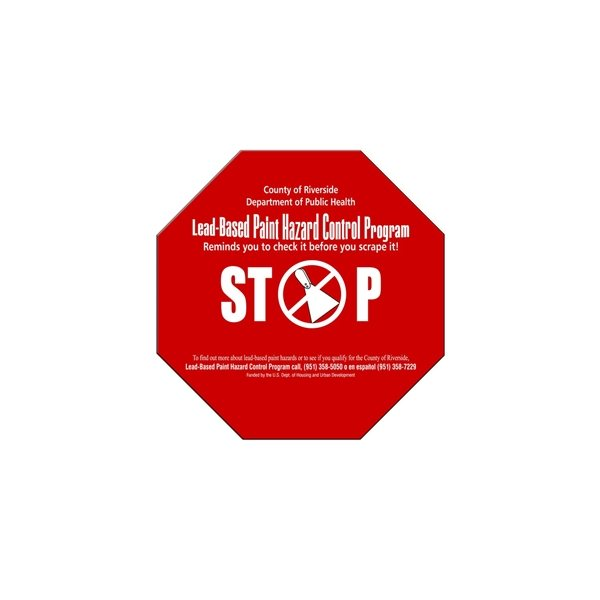 Promotional Stop Sign / Octagon Fan Without Stick - Paper Products