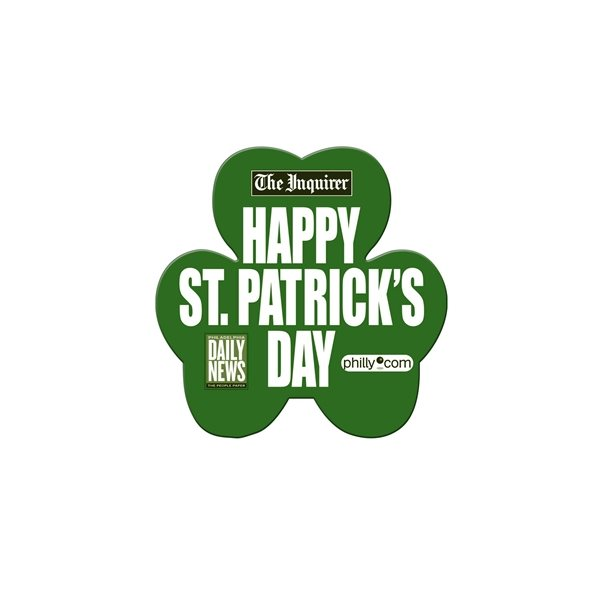Promotional Shamrock Fan Without A Stick - Paper Products