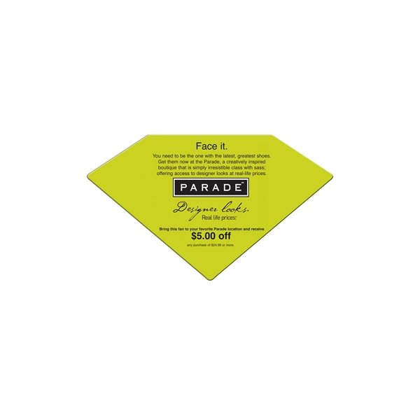 Promotional Diamond Fan Without A Stick - Paper Products
