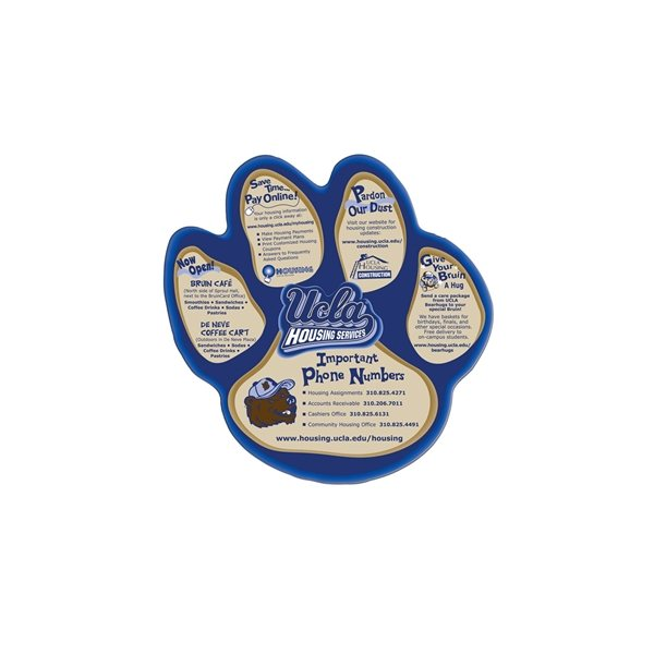 Promotional Paw Print Fan Without A Stick - Paper Products