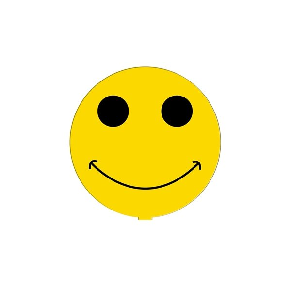 Promotional Smiley Face Fan Without A Stick - Paper Products