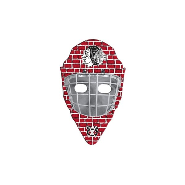 Promotional Hockey Mask Fan Without A Stick - Paper Products
