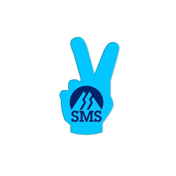 Promotional Peace Sign Fan Without A Stick - Paper Products