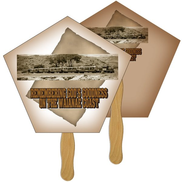 Promotional Church Digital Hand Fan (2 Sides)- Paper Products