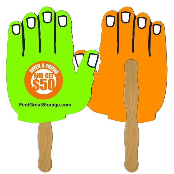 Promotional Hand Digital Hand Fan (2 Sides)- Paper Products