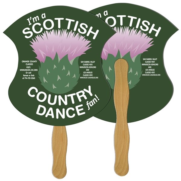 Promotional Badge Digital Hand Fan (2 Sides)- Paper Products