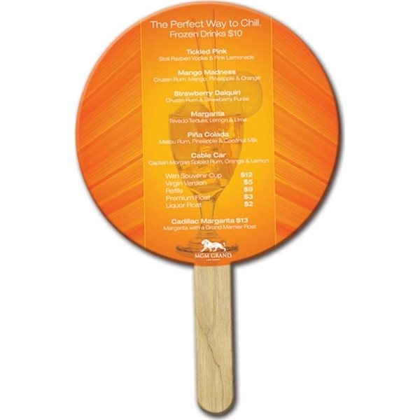Promotional Round Mini Fan - Paper Products