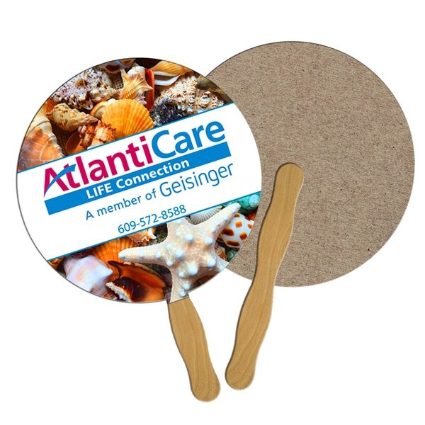 Promotional Round Recycled Stock Fan - Paper Products