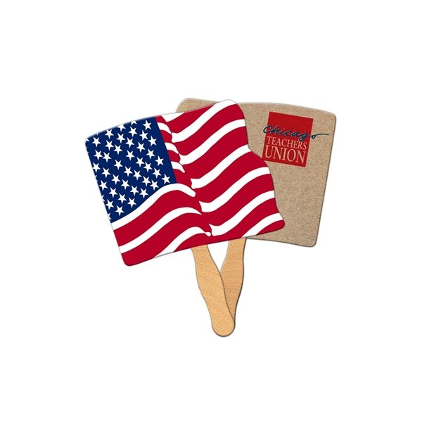 Promotional Flag Recycled Stock Fan - Paper Products
