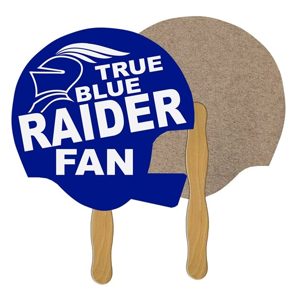 Promotional Helmet Recycled Stock Fan - Paper Products