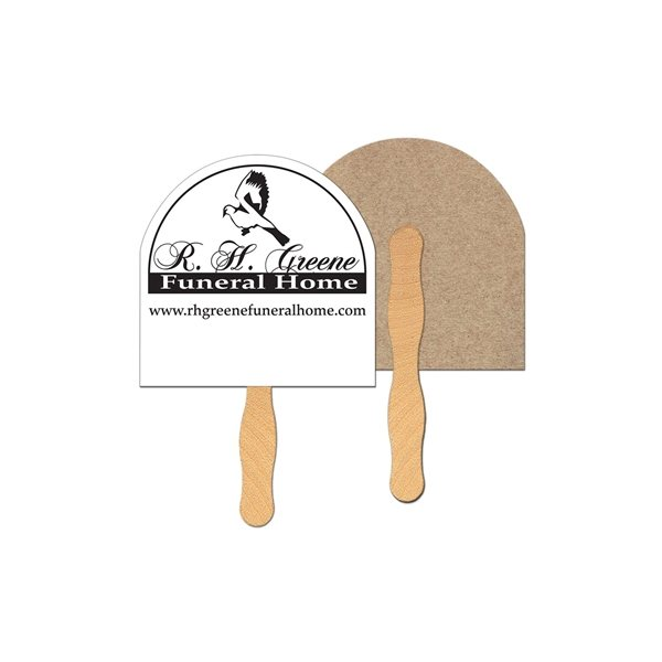 Promotional Half Moon Recycled Stock Fan - Paper Products