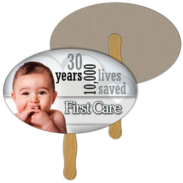 Promotional Oval Recycled Stock Fan - Paper Products