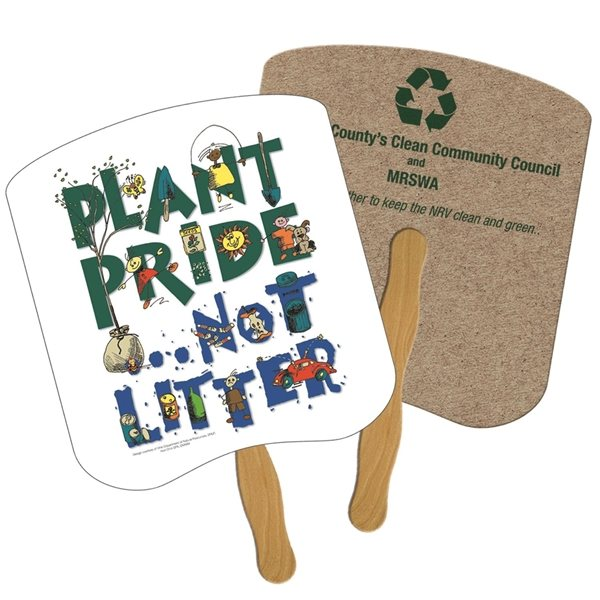 Promotional Breadslice Recycled Stock Fan - Paper Products