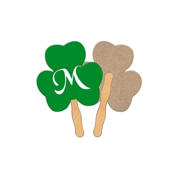 Promotional Shamrock Recycled Stock Fan - Paper Products