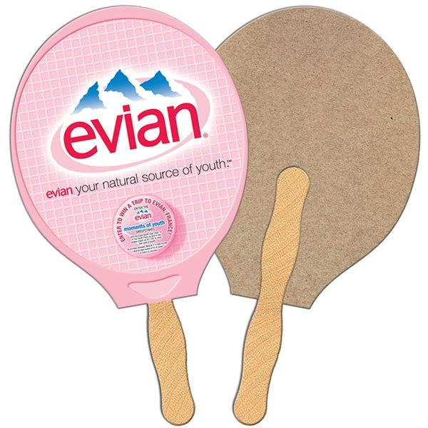 Promotional Racket Recycled Stock Fan - Paper Products
