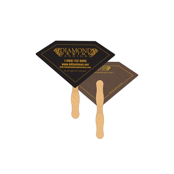Promotional Diamond Recycled Stock Fan - Paper Products
