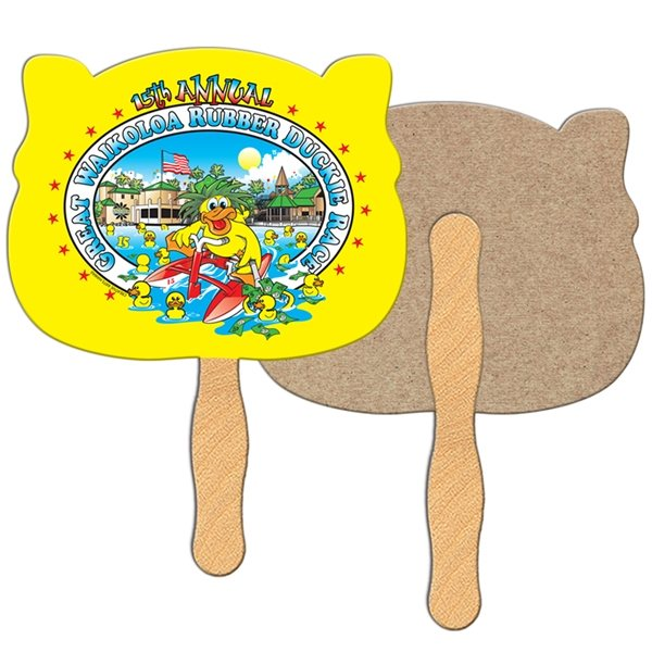 Promotional Animal Head Recycled Stock Fan - Paper Products