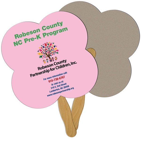 Promotional Clover Recycled Stock Fan - Paper Products