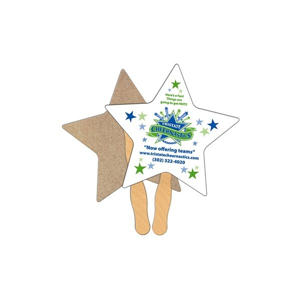 Promotional Star Recycled Stock Fan - Paper Products