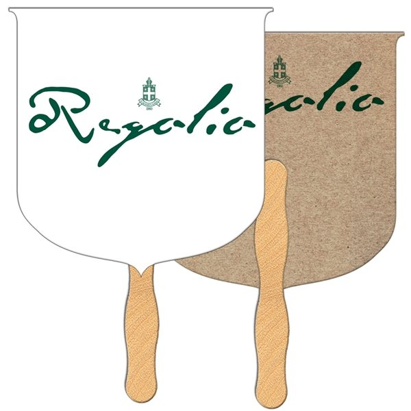 Promotional Coat of Arms Recycled Stock Fan - Paper Products