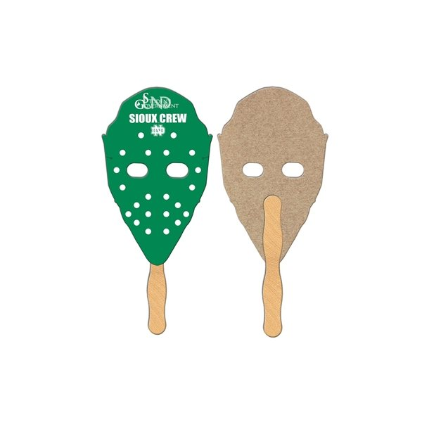Promotional Hockey Mask Recycled Stock Fan - Paper Products