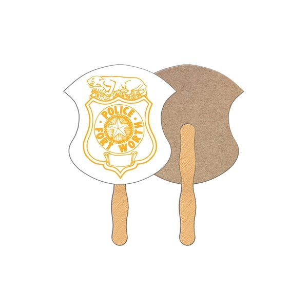 Promotional Badge Recycled Stock Fan - Paper Products