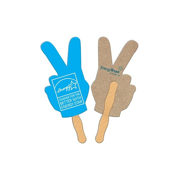 Promotional Peace Sign Recycled Stock Fan - Paper Products