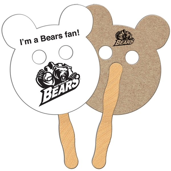 Promotional Panda Bear Recycled Stock Fan - Paper Products