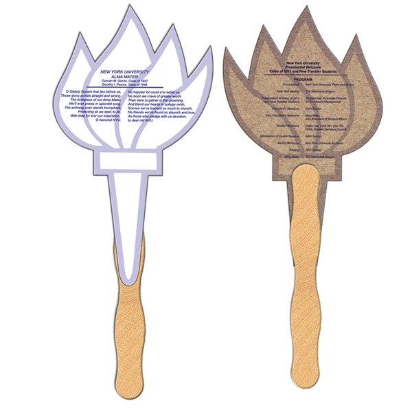 Promotional Torch Recycled Stock Fan - Paper Products