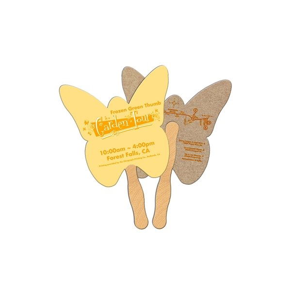 Promotional Butterfly Recycled Stock Fan - Paper Products