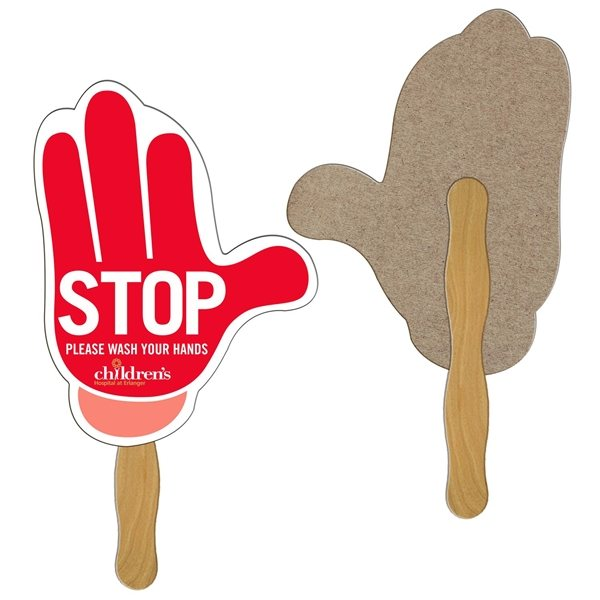 Promotional Mitten Recycled Stock Fan - Paper Products